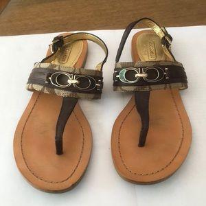 Coach size 6 B sandal